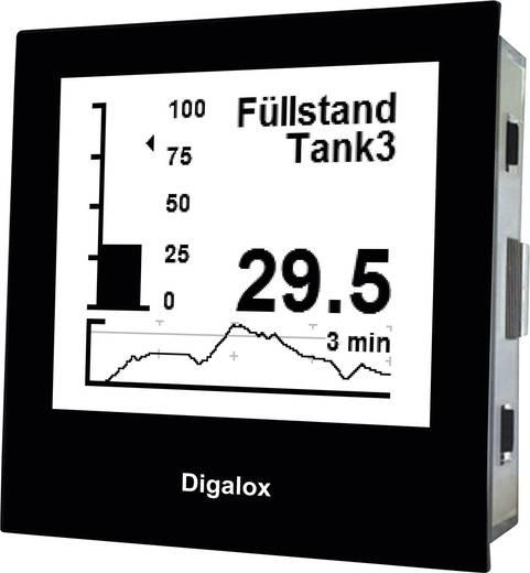 Digitales Hutschienenmessgerät TDE Instruments Digalox DPM72-AVP Grafisches DIN-Messgerät für Volt und Ampere mit USB-Sc