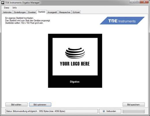 Digitales Einbaumessgerät TDE Instruments Digalox DPM72-PP Grafisches DIN-Messgerät für Nebenwiderstand und Analogsignal