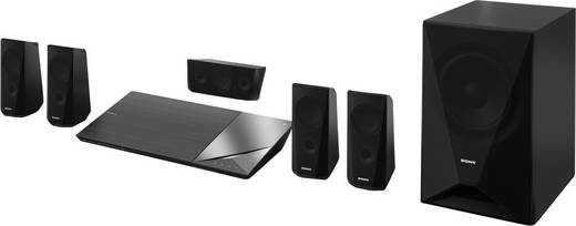 5.1 3D Blu-ray Heimkinosystem Sony BDV-N5200W 1000 W Schwarz Bluetooth, WLAN, NFC, Ultra HD Upscaling