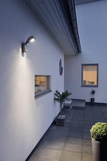 LED-Außenwandleuchte mit Bewegungsmelder 3 W Warm-Weiß Konstsmide Latina Small 7937-370 Anthrazit