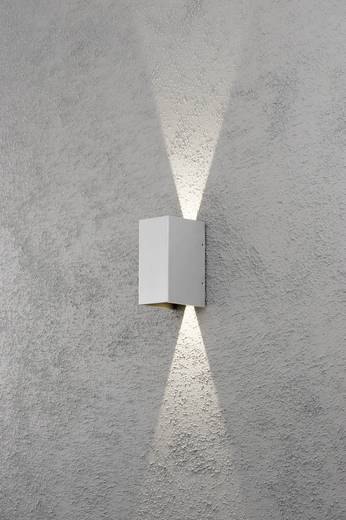 LED-Außenwandleuchte 6 W Warm-Weiß Konstsmide Cremona 7940-310 Grau