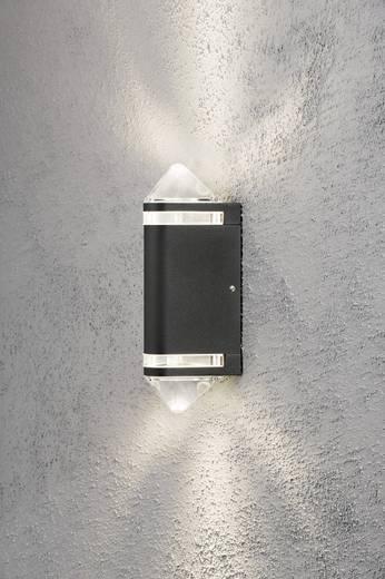 Konstsmide Modena Aites II 7519-750 Außenwandleuchte Halogen GU10 70 W EEK: D (A++ - E) Schwarz