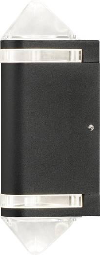 Außenwandleuchte Halogen GU10 70 W Konstsmide Modena Aites II 7519-750 Schwarz