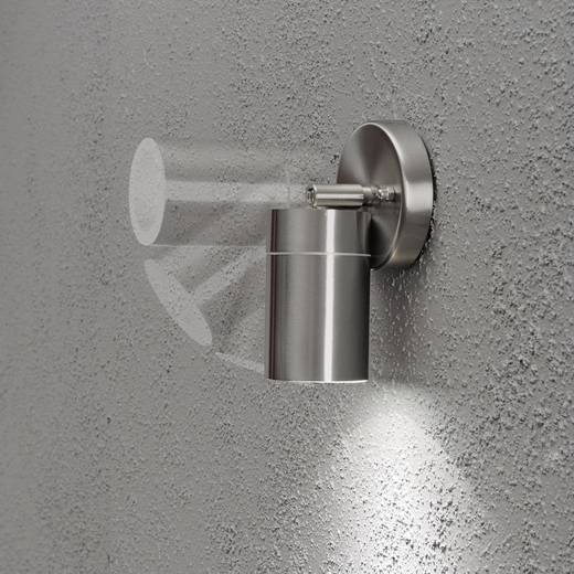 Außenwandleuchte Energiesparlampe, LED GU10 7 W Konstsmide Modena Spot 7598-000 Edelstahl