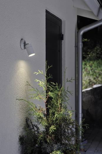 Außenwandleuchte Energiesparlampe, LED GU10 7 W Konstsmide Modena Spot 7598-300 Grau