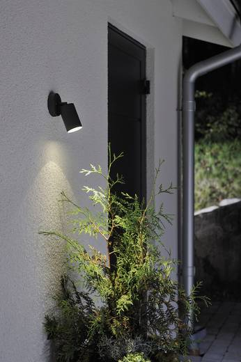 Außenwandleuchte Energiesparlampe, LED GU10 7 W Konstsmide Modena Spot 7598-750 Schwarz