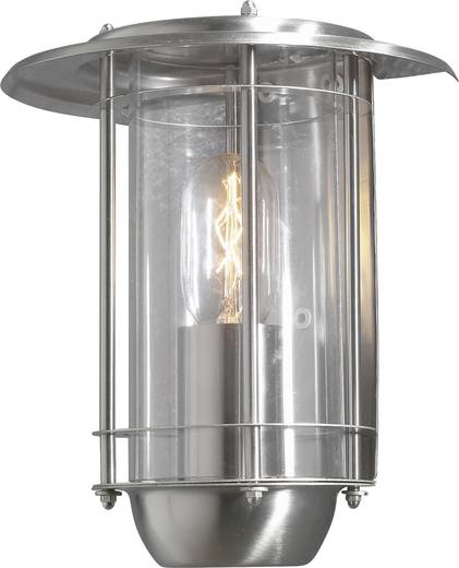 Konstsmide Trento 7565-000 Außenwandleuchte Energiesparlampe, LED E27 60 W Edelstahl