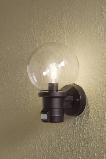 Konstsmide Nemi Move 7321-750 Außenwandleuchte mit Bewegungsmelder Energiesparlampe, LED E27 60 W Schwarz