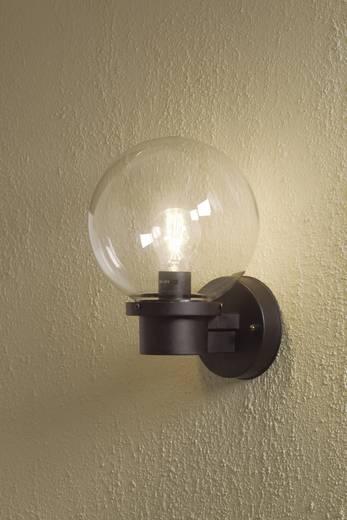 Außenwandleuchte Energiesparlampe, LED E27 60 W Konstsmide Nemi Twighlight 7322-750 Schwarz
