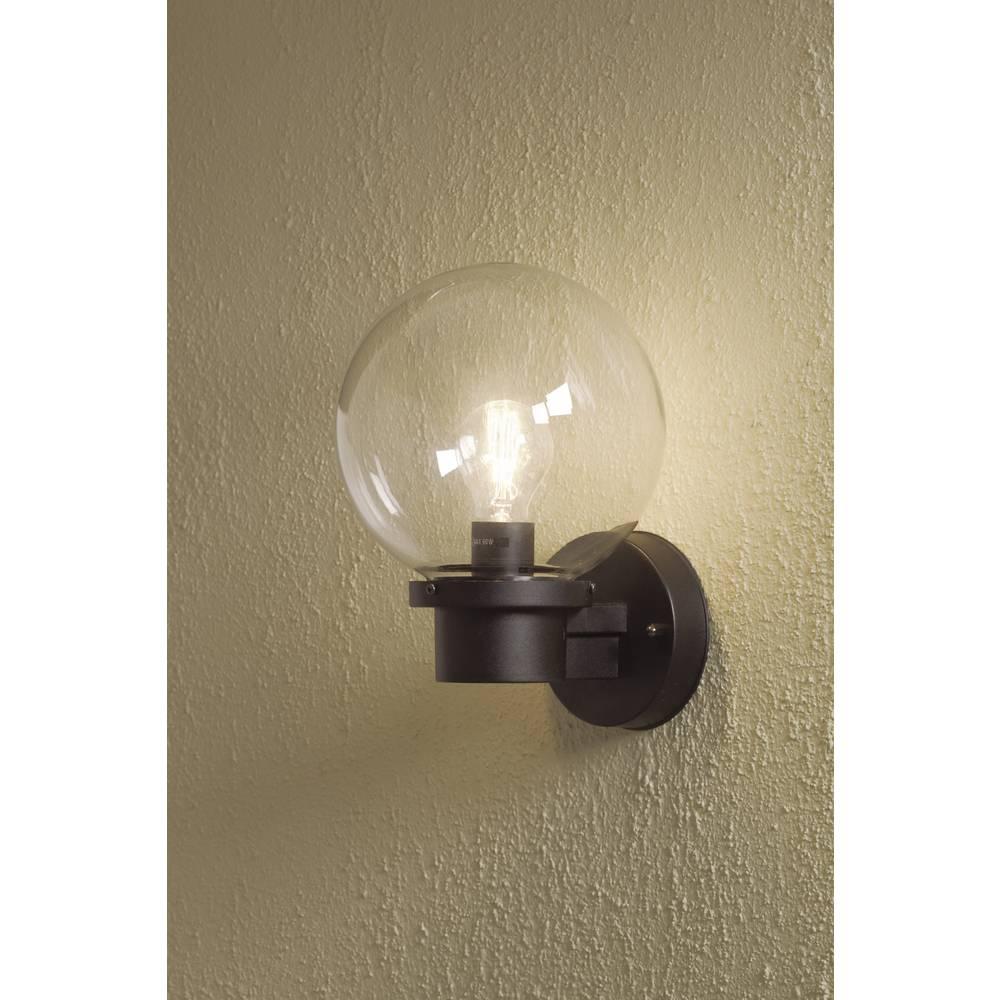 Lampada da parete per esterno lampada a risparmio energetico led e27 60 w konstsmide nemi - Lampada da esterno a parete ...