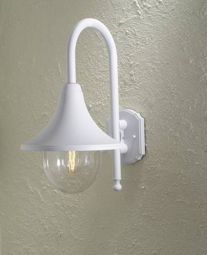 Außenwandleuchte Energiesparlampe, LED E27 75 W Konstsmide Bari 7237-250 Weiß