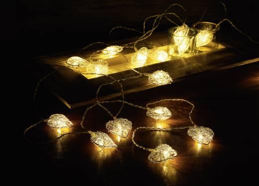 Motiv-Lichterkette Herz Innen batteriebetrieben 16 LED Warm-Weiß Beleuchtete Länge: 3 m Polarlite LBA-20-001