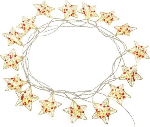 Polarlite LDC-02-005 Motiv-Lichterkette Sterne Innen netzbetrieben 16 LED Warm-Weiß Beleuchtete Länge: 4.5 m