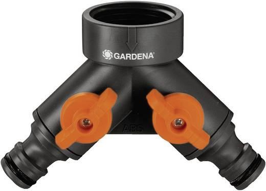 """GARDENA 940-20 2-Wege-Verteiler Steckkupplung, 30,3 mm (1"""") IG mit Regulierventil"""