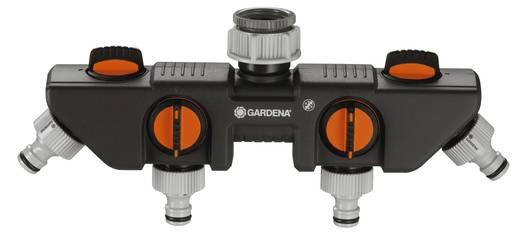 """GARDENA 8194-20 4-Wege-Verteiler Steckkupplung, 26,44 mm (3/4"""") AG, 33,25 mm (1"""") AG mit Regulierventil"""