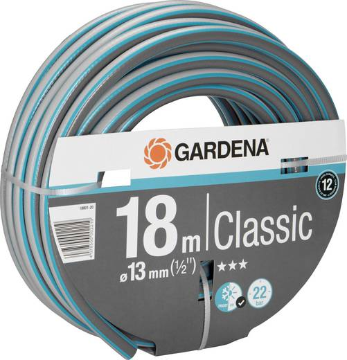 Gartenschlauch 13 mm 1/2 Zoll 18 m Grau, Orange GARDENA 18001-20