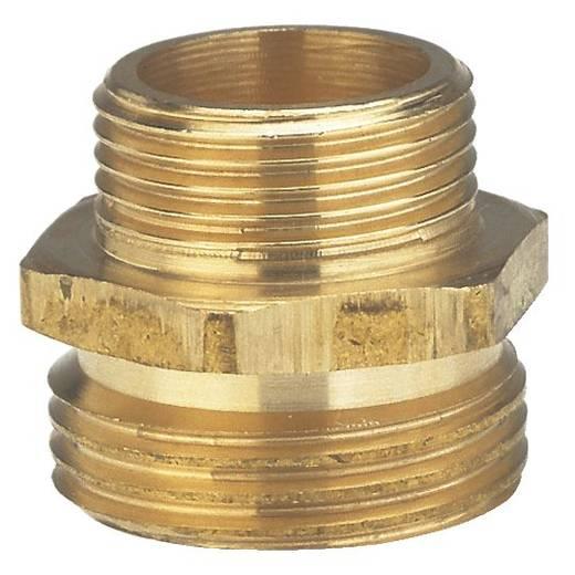 """GARDENA 7262-20 Messing Reduzierung-Gewindenippel 26,44 mm (3/4"""") AG, 20,96 mm (1/2"""") AG"""