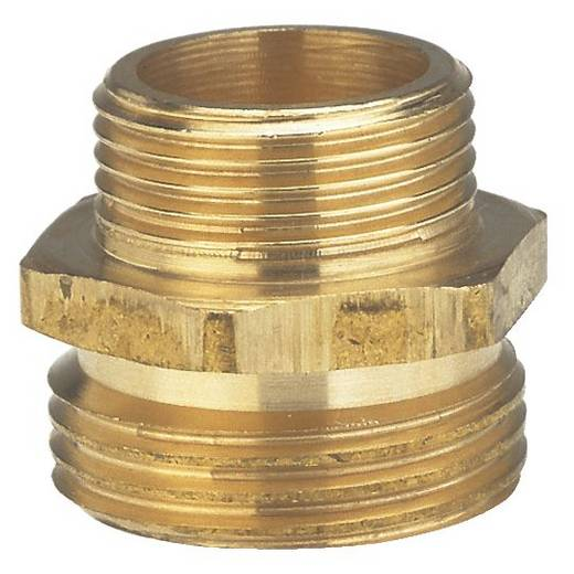 """Messing Reduzierung-Gewindenippel 33,25 mm (1"""") AG, 26,44 mm (3/4"""") AG GARDENA 7263-20"""