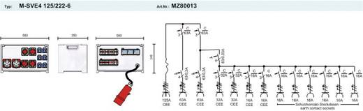 PCE Merz CEE Stromverteiler MZ80013 400 V 125 A