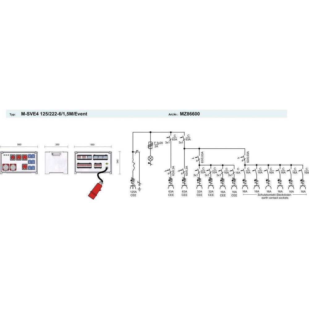 PCE Merz CEE Stromverteiler MZ86600 400 V 125 A im Conrad Online ...
