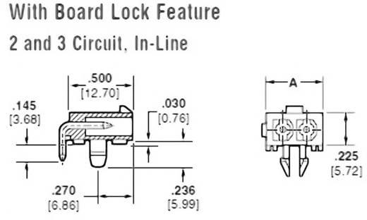 Stiftgehäuse-Platine Mini-Universal-MATE-N-LOK Polzahl Gesamt 2 TE Connectivity 1-770966-1 Rastermaß: 4.14 mm 1 St.