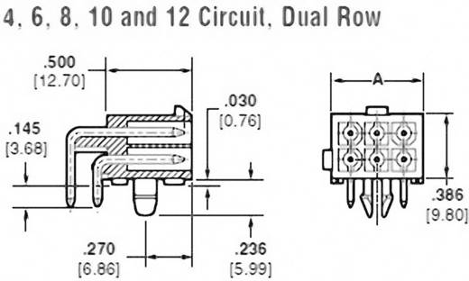 TE Connectivity Stiftgehäuse-Platine Mini-Universal-MATE-N-LOK Polzahl Gesamt 6 Rastermaß: 4.14 mm 1-770969-1 1 St.