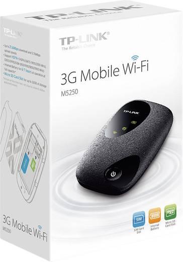 TP-LINK M5250 Mobiler 3G-WLAN-Hotspot bis 10 Geräte 21.6 MBit/s mit microSD-Kartenslot Schwarz