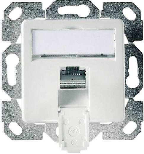 Netzwerkdose Unterputz Einsatz mit Zentralplatte CAT 6 1 Port Telegärtner Alpinweiß