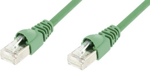 Telegärtner RJ45 Netzwerk Anschlusskabel CAT 5e F/UTP 25 m Grün Flammwidrig, mit Rastnasenschutz