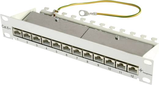 12 Port Netzwerk-Patchpanel Telegärtner J02022A0057 CAT 6a 1 HE