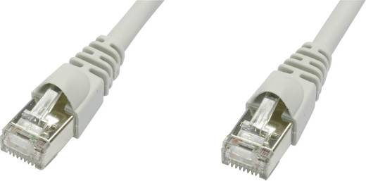 Telegärtner RJ45 Netzwerk Anschlusskabel CAT 5e F/UTP 10 m Grau Flammwidrig, mit Rastnasenschutz