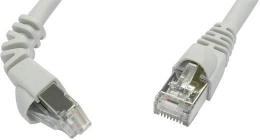 Telegärtner RJ45 Netzwerk Anschlusskabel CAT 6a S/FTP 1 m Grau Flammwidrig, mit Rastnasenschutz