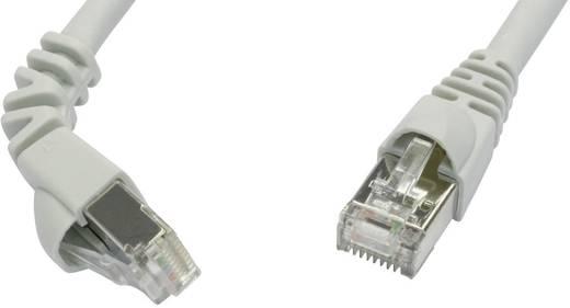 Telegärtner RJ45 Netzwerk Anschlusskabel CAT 6a S/FTP 5 m Grau Flammwidrig, mit Rastnasenschutz