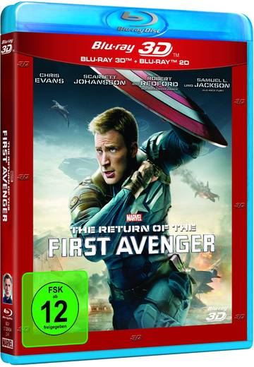 blu-ray 3D The Return of the First Avenger (+ 2D Blu-ray) FSK: 12