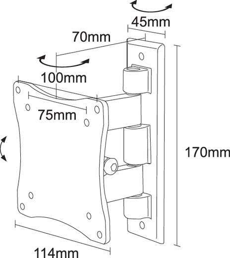 """Monitor-Wandhalterung 25,4 cm (10"""") - 68,6 cm (27"""") Neigbar+Schwenkbar NewStar FPMA-W810 Ausziehbar"""