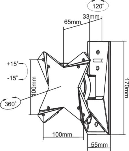"NewStar FPMA-W812 Monitor-Wandhalterung 25,4 cm (10"") - 134,6 cm (53"") Neigbar+Schwenkbar, Rotierbar"