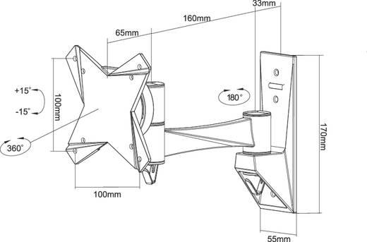 "Monitor-Wandhalterung 25,4 cm (10"") - 76,2 cm (30"") Neigbar+Schwenkbar, Rotierbar NewStar Products FPMA-W822"