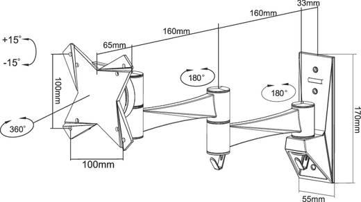 """Monitor-Wandhalterung 25,4 cm (10"""") - 76,2 cm (30"""") Neigbar+Schwenkbar, Rotierbar NewStar Products FPMA-W832 Ausziehbar"""