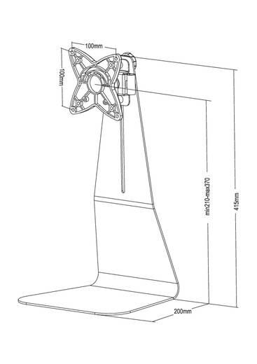 "Monitor-Standfuß 25,4 cm (10"") - 68,6 cm (27"") Neigbar+Schwenkbar, Rotierbar NewStar Products FPMA-D800"