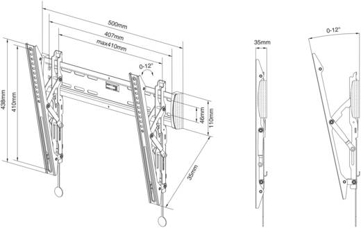 "NewStar Products NM-W345BLACK TV-Wandhalterung 81,3 cm (32"") - 132,1 cm (52"") Neigbar"