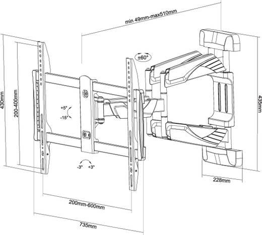 """NewStar Products NM-W475BLACK TV-Wandhalterung 81,3 cm (32"""") - 165,1 cm (65"""") Neigbar+Schwenkbar"""