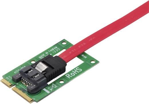 Schnittstellen-Konverter [1x MiniSATA-Buchse - 1x SATA-Kombi-Stecker 7+15pol.] Renkforce