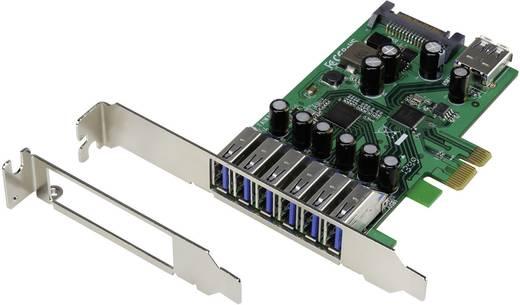6+1 Port USB 3.0-Controllerkarte USB-A PCIe