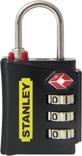 Stanley Vorhängeschlösser 81140393401 Vorhängeschloss 18 mm TSA Schwarz, Rot, Gelb Zahlenschloss