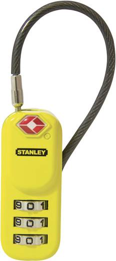 Kabelschloss 24 mm TSA Stanley Vorhängeschlösser 81161393401 Schwarz, Gelb Zahlenschloss