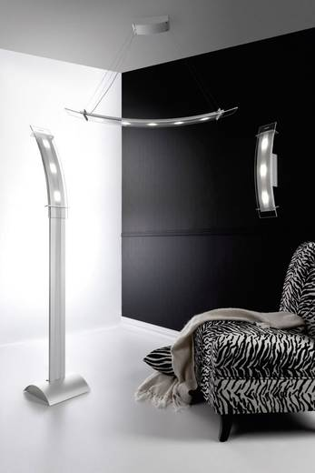 LED-Wandleuchte 15 W Warm-Weiß SKOFF Moderno Elisse ME-KIN-A-H-3-PL-PL-01 Aluminium, Transparent