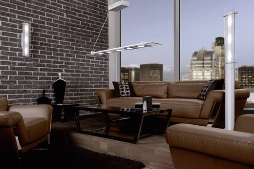 LED-Stehlampe 15 W Warm-Weiß SKOFF Moderno Elegante MO-LST-A-H-3-PL-PL-01 Aluminium, Transparent