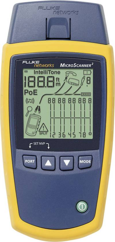 Fluke Networks MS2-100 Microscanner2 Cable Verifier, cable test device