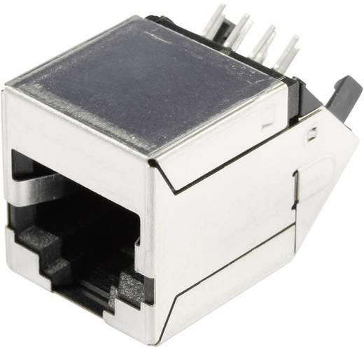 Modular-Einbaubuchse geschirmt 47,5° Cat.5e Buchse, Einbau Pole: 8P8C SS-71100-001 Vernickelt, Metall BEL Stewart Conne