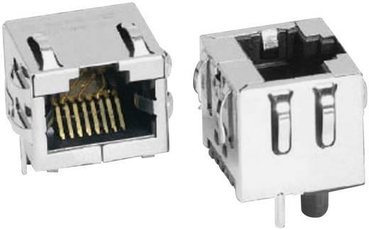 Modular-Einbaubuchse vertikal geschirmt Cat.6a Buchse, Einbau vertikal Pole: 8P8C SS-60300-016 Vernickelt, Metall BEL S